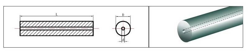1 Straight Hole Centered
