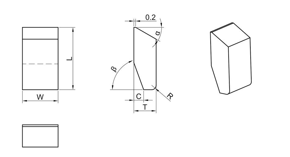 Carbide Saw Tips-Style A