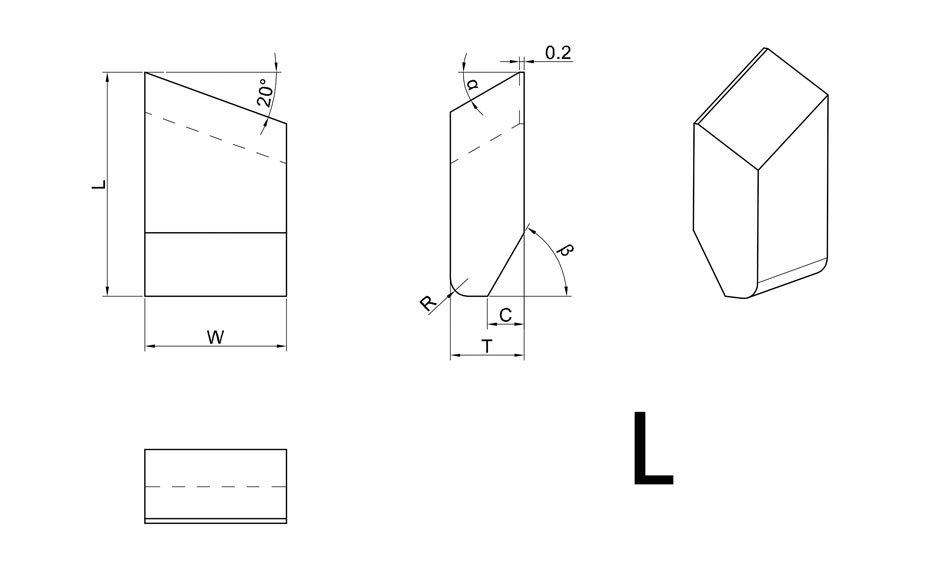 Carbide Saw Tips-L & R Style